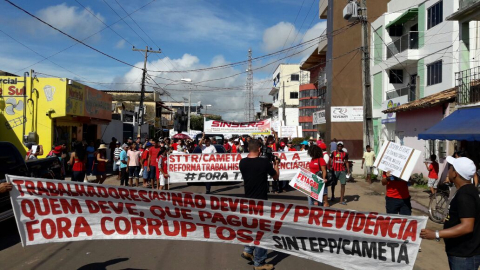 Pará tem mobilização por todos os lados; agora é Cametá na #GreveGeral #BrasilEmGreve