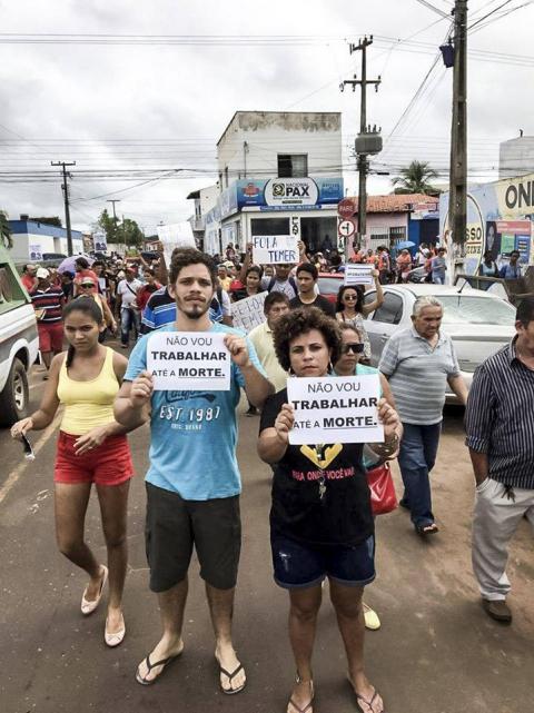 Bacabal/MA: população mobilizada contra as reformas  #BrasilEmGreve #GreveGeral