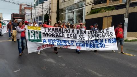 Dia de Greve em Macaé/RJ #BrasilEmGreve #GreveGeral